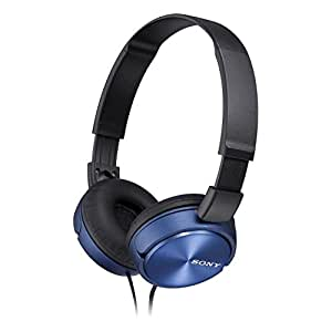 Sony MDRZX310 Foldable Headphones - Metallic Blue