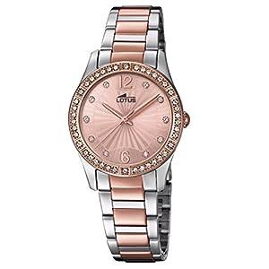 Lotus Reloj Analógico para Mujer de Cuarzo con Correa en Acero Inoxidable 18384/2