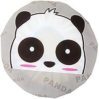 CTGVH - Gorro de ducha de plástico, elástico, diseño de animales, impermeable, para el cuidado del maquillaje, para mujeres y niñas (patrón de panda)