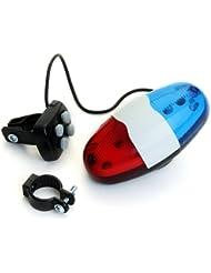lgking supply XC-325B - Sirena timbre para bicicleta (4 sonidos, 6 LEDs)