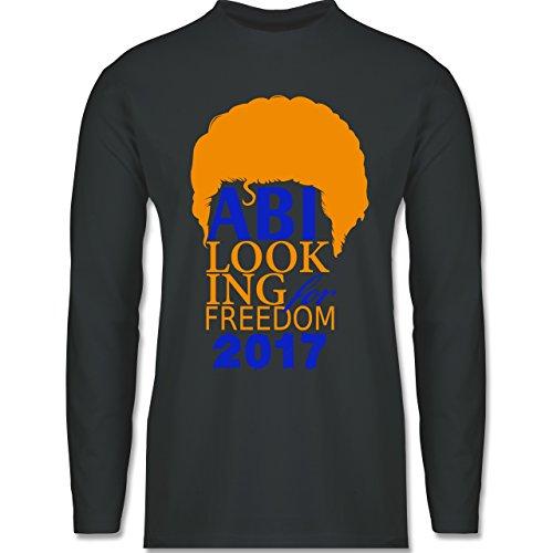 Abi & Abschluss - ABI looking for freedom 2017 - Longsleeve / langärmeliges T-Shirt für Herren Anthrazit