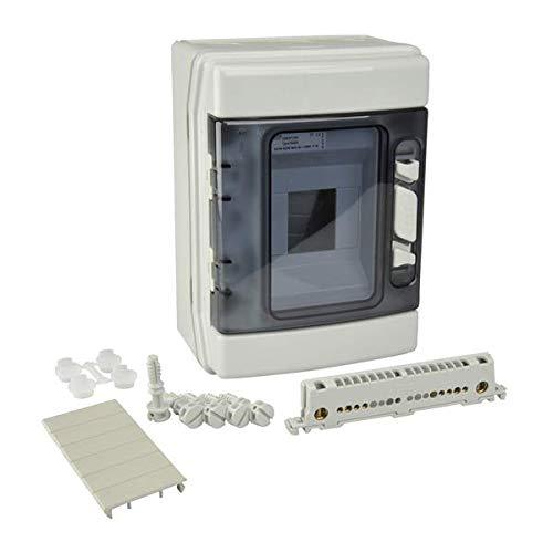 Unitec 47100 Kleinverteilung, Aufputz, IP 55, 1 x 4 Module, grau - 2