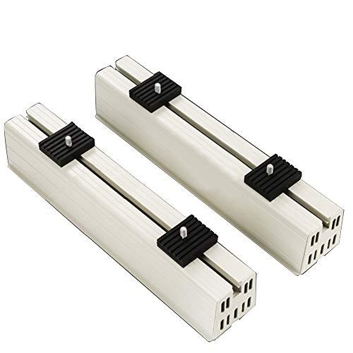 Support de plancher de climatisation, coussinet en caoutchouc absorbant les chocs base de climatisation en résine de PVC réglable en blanc pour unité de condenseur de climatisation mini sans conduit