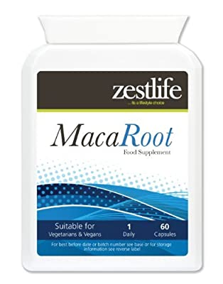Zestlife Maca Root 4:1 (1000mg equivalent) 60 capsules from Zestlife