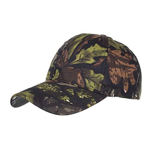 Yvelands Damen Herren Cap Hut Baumwolqualitäts-gestickte Unisex Baseballmütze Einstellbar(Grün)