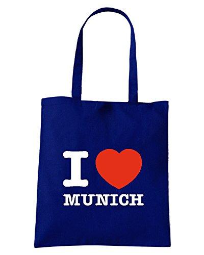 T-Shirtshock - Borsa Shopping TLOVE0086 i love munich tshirt Blu Navy
