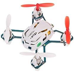 Hubsan Quadcopter Nano Q4H1114 canales4GHz RTF Mini RC, UFO, Dron con 6Ejes, giroscopio/Luz led