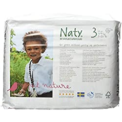 Naty by Nature Babycare Couches Écologiques Jetables Taille 3 Midi 4-9 Kg (4 X 31)