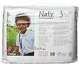 NATY by Nature Babycare, Pannolini ecologici, Taglia 3 (4-9 kg), 4 confezioni da 31 pz.