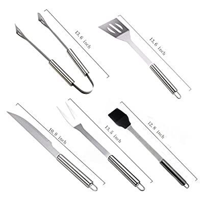MFEI Grill Geschenke BBQ Grill-Werkzeug-Set, Complete Barbecue Tool Kit bestehend aus Outdoor-Zubehör-Kit im Store Case