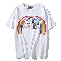 moschino White Round Neck T-Shirt For Women
