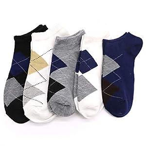 XMDNYE 5 Paar Atmungsaktive Socken Männliche Socken Casual Socken Kurze Socken