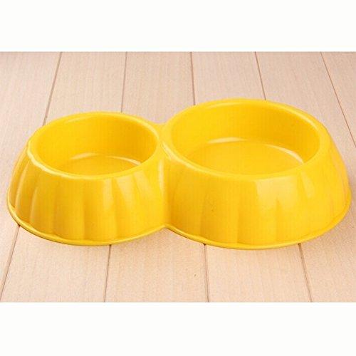 Happy-L Heimtierbedarf, 2er-Pack Kunststoff, der doppelt so groß ist wie die Rundschale (Colour : Gelb) (So So Happy Hoodie)