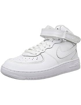 Nike Force 1 Mid (PS) Zapatillas de Baloncesto, Niños