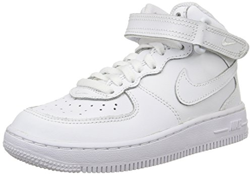 Nike 314196 113 Force 1 Mid PS Jungen Sportschuhe, Bianco, 33 EU (Nike Force 1 Kinder Air)