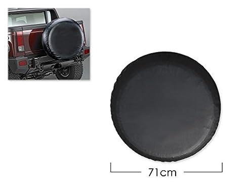 DSstyles Housse de pneu Housse de roue de rechange de 28 pouces Housse de pneu pour voiture - Noir