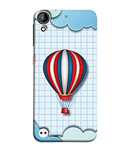 HTC Desire 530 Back Cover Balloon Blue And Dot Concept Background Vector Design From FUSON