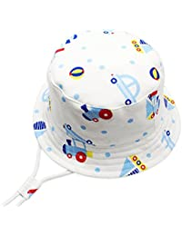 iClosam Unisex Packable Baby Toddler Soft Breathable Cotton Cute Sun Hats f2b323d4fef8