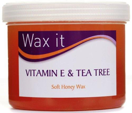 Wax It Soft Honey Wax with Vitamin E and Tea Tree 450g -