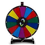 BuoQua 24Inch Gioco Ruota Della Fortuna Da Tavolo Lunga 3.6kg Roulette Casinò E Attrezzature Il Supporto Sfondo Colorato Da Tavolo Fortune Spinning Prize Wheel per Spin Game Carnival