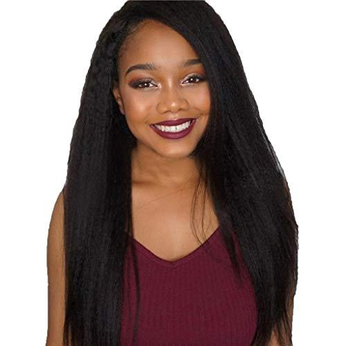 Haludock Lace Front Perücke Pre gezupft mit dem Babyhaar für schwarze Frauen, 130% Dichte Hochtemperatur Seide Glattes Menschenhaar Glueless Lace Frontal Perücken (26