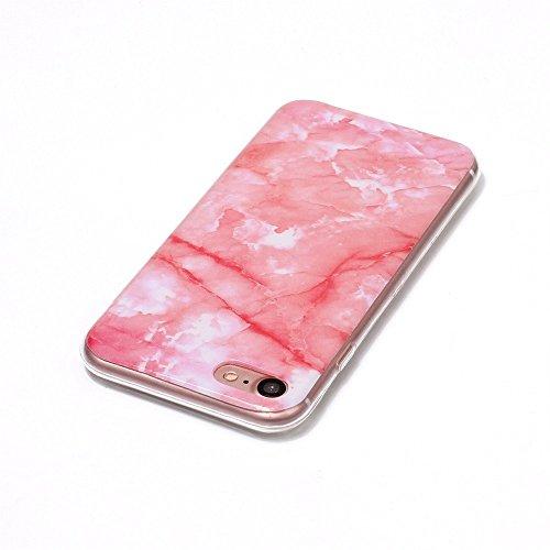 Ouneed® Für 7 4.7 Zoll Hülle , Mütter Tag Geschenk Rosa Marble Texture Print Cover Case Skin für iPhone 7 4.7 Zoll (D) E