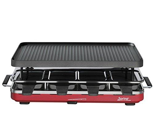 Spring Raclette 8 Rot mit Alugrillplatte EU