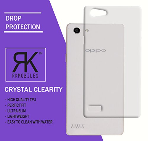 Oppo Neo 7 Ultra Thin 0.3mm Clear Transparent Flexible Soft TPU Slim Back Case Cover (For Oppo Neo 7)