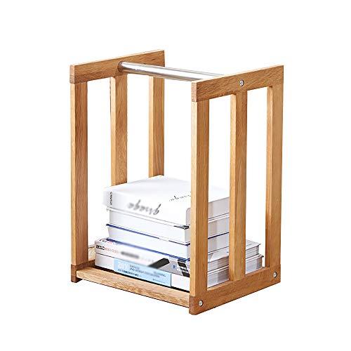 Bücherregal Eiche Zeitungsständer Möbel Lagerung Zeitung Holz Korb Mobile Bibliothek -