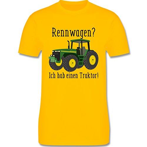 Landwirt - Rennwagen? Traktor! - Herren T-Shirt Rundhals Gelb