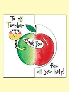 To My Teacher strass 3D Carte de remerciement Par Rachel Ellen