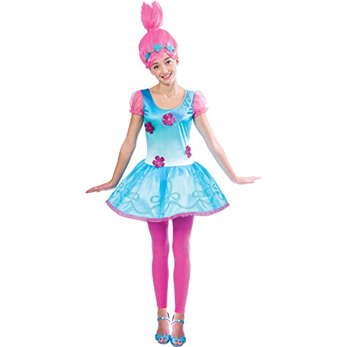 Amscan Poppy Trolls Kinder Kostüm - Troll Mädchen Kostüm