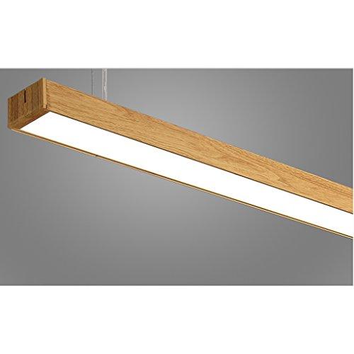 LOFAMI Patron madera moderno colgante luz LED lámpara