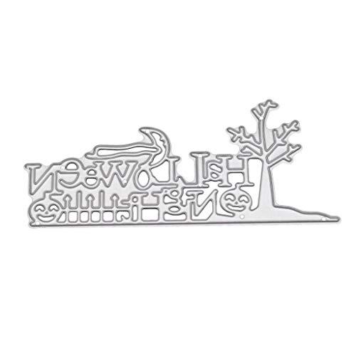 Fogun Metall Halloween Stanzschablonen Metall Schneiden Schablonen für DIY Scrapbooking Album, Schneiden Schablonen Papier Karten Sammelalbum Dekor