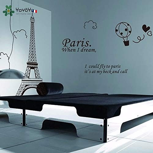 Wall Decal Vinyl Room Decoration Paris Eiffel Tower Bedroom Home Decor Removable Wall Sticker Art Mural Poster 60X90cm -