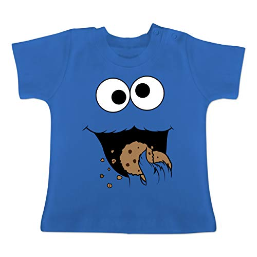 g Baby - Keks-Monster - 12-18 Monate - Royalblau - BZ02 - Baby T-Shirt Kurzarm ()