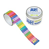 Measure Me! Roll-up Door Frame Height Chart for Kids - Rainbow Rows
