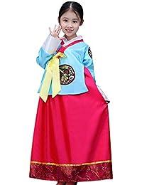c3c0ec7e4 BOZEVON Vestido Tradicional Coreano - Chicas Clásico Retro Manga Larga  Cómodo Vestido Hanbok Encantador