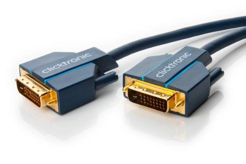 Clicktronic Casual Cavo di Connessione DVI-D, Dual