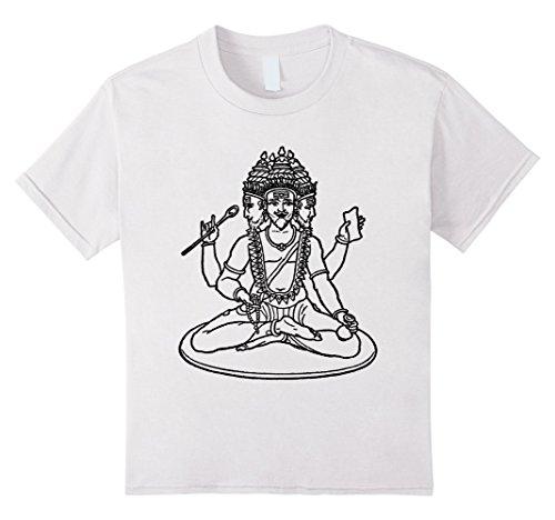 kids-brahma-t-shirt-hindu-god-hinduism-veda-trimurti-graphic-tee-8-white