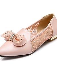 ShangYi Scarpe Donna-Ballerine-Formale-Chiusa / Ballerina / A punta-Piatto-Finta pelle-Nero / Rosso / Tessuto...