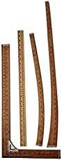 Designers Den Tailoring Wooden Rulers-Set Of 4-Garment Measuring Scales
