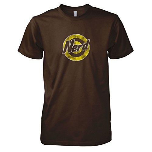 TEXLAB - Nerd Logo - Herren T-Shirt Braun