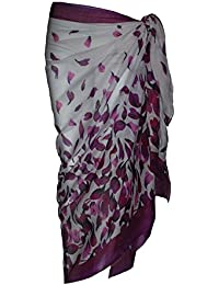 Soft 100% Cotton Sarong with Petal Design 100cmx180cm