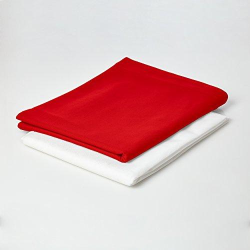 Lumaland federa in cotone per maxi cuscino xxl 140 x 180 cm puff da 380lt pouff indoor rossa