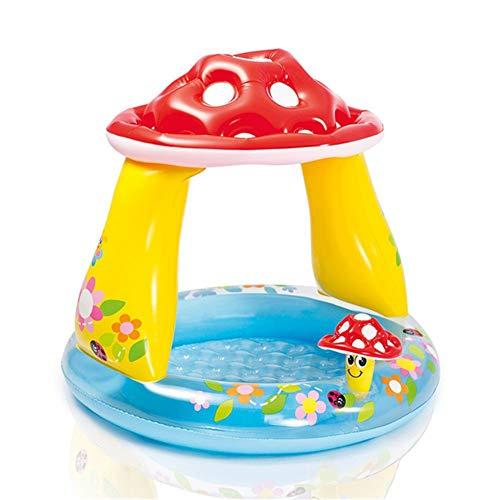 Pase un agradable verano en esta colorida piscina inflable en su patio trasero. Espacio suficiente para que varios niños jueguen con agua, floten e incluso naden.Nombre: Seta inflable redonda para niños.Material: material plástico de PVC verde grueso...