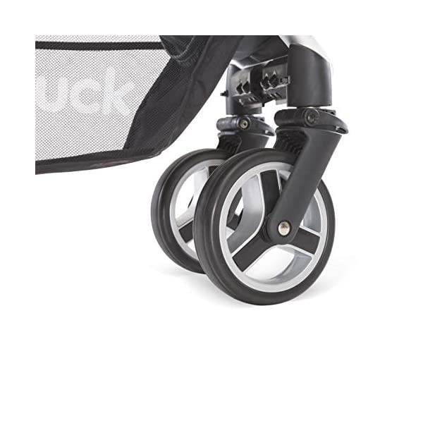 Hauck Lift Up 4, Lightweight Pushchair from Birth to 25 kg, Quick Fold with One Hand with Lying Position, Telescopic, Height-Adjustable Push Handle, Cup Holder, Charcoal Hauck EASY FOLDING - Thanks to its One-Hand-Fold mechanism, this pushchair is folded away within seconds up to a small size. This can be easily transported by the carry strap, leaving one hand free for your little one LONG USE - This buggy can be used over a long period of time as it is suitable from birth thanks to lying position and up to 25 kg. It can also be combined with the hauck Comfort Fix infant car seat + adaptors or hauck 2in1 Carrycot COMFORTABLE - Thanks to backrest and footrest beign adjustable into lying position which is suitable for bigger children, too, as well as large sun hood with UV protection and height-adjustable, telescopic push handle 16