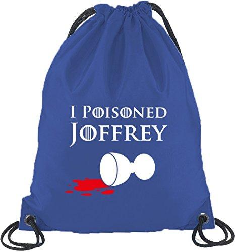 Shirtstreet24, I Poisoned Joffrey, Turnbeutel Rucksack Sport Beutel Royal Blau