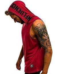QinMM Camiseta con Capucha de Tirantes Deportes para Hombre 834a78ad2f94c