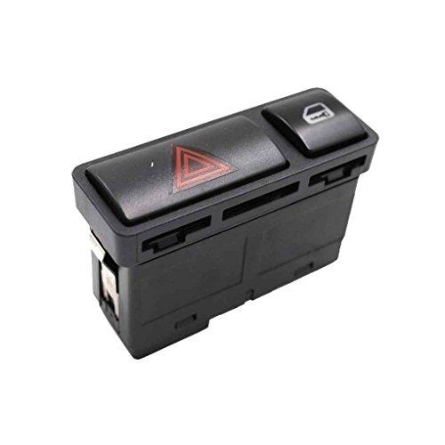 for 3 Series E46 61318368920 Hazard Warnng Light Lock Switch Emergency Flash Light Switch Push Button On/Off Switch Kakiyi -